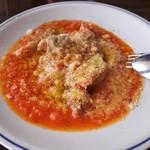 オステリアチエロアルト - 豚ホルモンのトマト煮