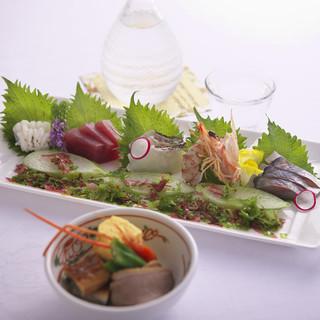 大山周辺、日本海の幸を使ったお料理
