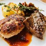 森の中のお肉レストラン アースガーデン - 森の至福のハンバーグと遠州夢咲牛A5ランクステーキ 夢の共演!