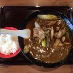 80009750 - ネギ豚いためカレーらーめん、こいこく、普通麺、超辛+ライスセット