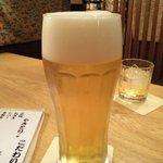 くいものやもへい - ビールはアサヒ