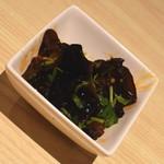 台湾キッチン かのか - 涼拌黒木耳(600円+税)2018年1月