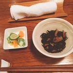 aunt MIMI - ランチの小鉢とお漬物