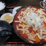 極楽うどん Ah-麺 - チーズタッカルビうどんSET