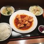 もりもと - エビのピリ辛ランチ860円