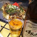 80014125 - カキモダンと瓶ビール