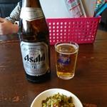 藤吉 - 瓶ビール中×2本(o^-')b !