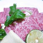旅亭 田乃倉 - 料理写真:豊後牛のしゃぶしゃぶ 生湯葉 浅葱 紅葉おろし 柚子