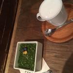 珈琲ぶりこ - 抹茶のレアチーズケーキ