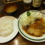 洋食エリーゼ - ポークジンジャー定食(\950)