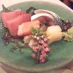 8002632 - お刺身マグロ、しめ鯖、鯛、平貝
