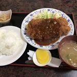 工藤精肉店食堂部 - ロースかつ定食