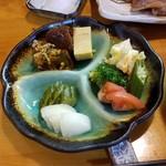 雀の宿 - 定食セットで付いてきた惣菜