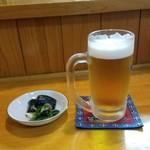 雀の宿 - 仕事明けのビールはうまい!