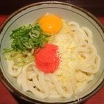 楽釜製麺所 - 明太子&チーズうどん@590
