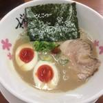 麺屋 桜息吹 - 味玉豚骨