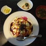 ソワール - 料理写真:オムライス(味噌汁、コーヒー付)850円