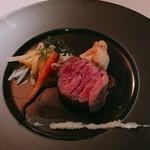 かみくら - 国産牛フィレ肉のロティ 粒マスタードとフヌイユのピューレ