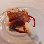かみくら - 林檎と柑橘のカトルカール バニラのグラスと共に