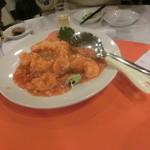 台湾菜館 弘城 - 大エビのチリソース(2尾)