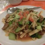 台湾菜館 弘城 - 牛肉と青梗菜のオイスター炒め(10人前)