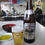 鶴亀屋食堂 - 瓶ビール(中瓶) 600円 (2018.1)