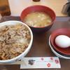 すき家 - 料理写真:牛丼とん汁たまごセット