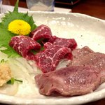 熊本Dining Kitchen 馬刺し 居酒屋 - 馬刺し あぶり(ハーフ&ハーフ) 1,500円