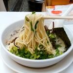 博多天神 - 博多天神 新橋2号店@新橋 きくらげラーメンの麺