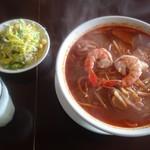 80046348 - トムヤムクンスープと米粉のやや太め麺