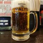七津屋 - 生中 245円(サービスデー価格)