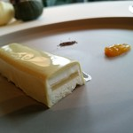 キュイジーヌ[s] ミッシェル・トロワグロ - イタリアシチリア島の「カッサータ」リコッタチーズムースにフルーツジャムを挟んだもの