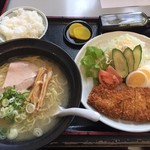 旭川大吉ラーメン - 塩こうじラーメン(Bセット)麺大盛 1170円+50円