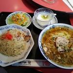 広東料理 獅子林 - 料理写真:半チャンラーメンセット 810円