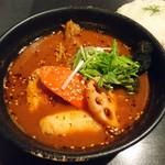 スープカリー ヒリヒリ2号 - 骨チキチキンカリー(930円)