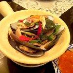 バンコク - ムール貝の蒸しもの