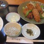 和料理 八車 - カキフライ定食800円