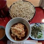 はし - 料理写真:【2018/1】ごまダレせいろ+ごぼう天セット
