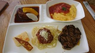 山麓館農場レストラン - 大地の恵みランチプレート