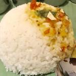 80067428 - インディカ米の美味しいご飯とダール【料理】