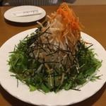 ブッチャーランド - 大根と水菜のシャキシャキサラダです。山盛りです。