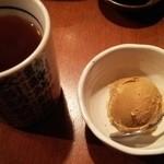 寿しやの台所 - ほうじ茶とキャラメルジェラード