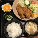 しみずや - 料理写真:カキフライ定食¥1300(→¥1458 税込み)… 冬季限定メニューより