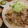 とんかつ しげます - 料理写真:豚肉なす生姜炒め定食 税込920円