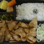 鮪牛 - 豚肉生姜焼き弁当 税込620円