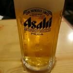 居酒屋 葉牡丹 - 生ビール