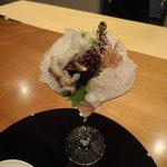赤坂 丈太郎 - 平目の小葱巻き トリ貝