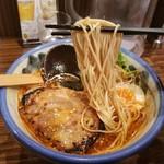 Afuri - 柚子辣湯麵の麺リフト
