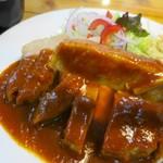 洋食のくんた - ポークチャップ、肉厚のお肉がたまらん!