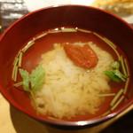 天ぷらと日本酒 明日源 - 梅茶づけ